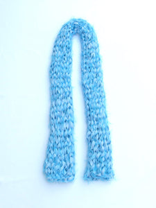 Dot knits shaggy scuba scarf  blue