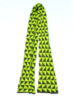 Load image into Gallery viewer, Dot knits triangle angle scarf yellow and khaki