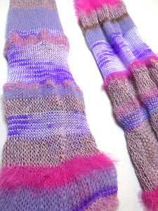 Dot Knits Scarves - Waste Yarn Scarf - Sugar
