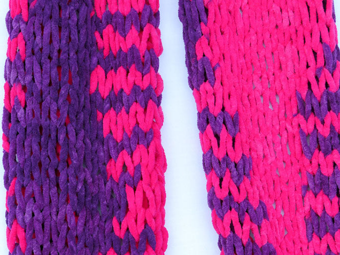 Dot Knits Scarves - Squishy Scarf Mélange Close-up