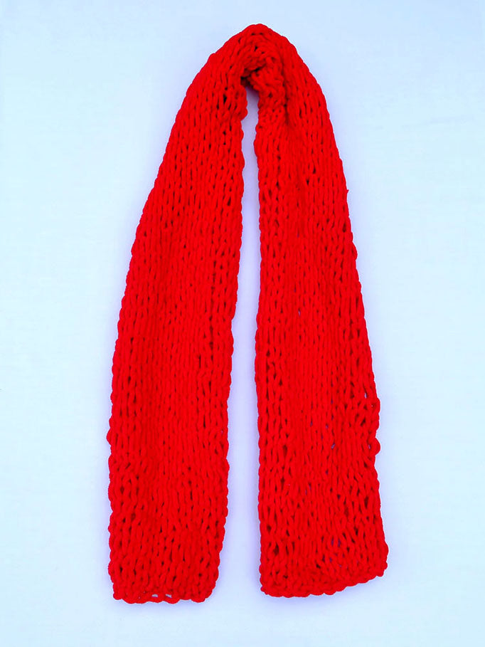 Dot Knits Scarves - Squishy Scarf Red