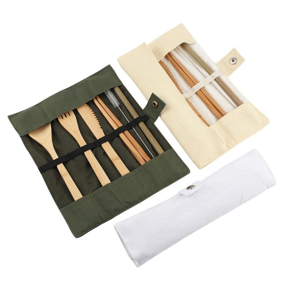 Bamboo Travel Cutlery Set - ECOINNOVA