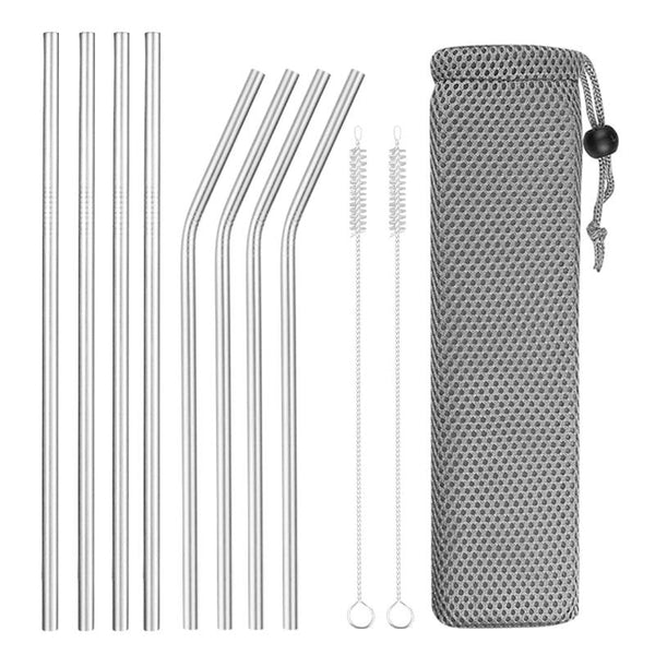 Zero-Waste Reusable Stainless Steel Straws (4-8 pcs./set) - ECOINNOVA