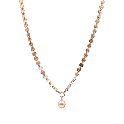 The Lea Necklace in Rose Gold