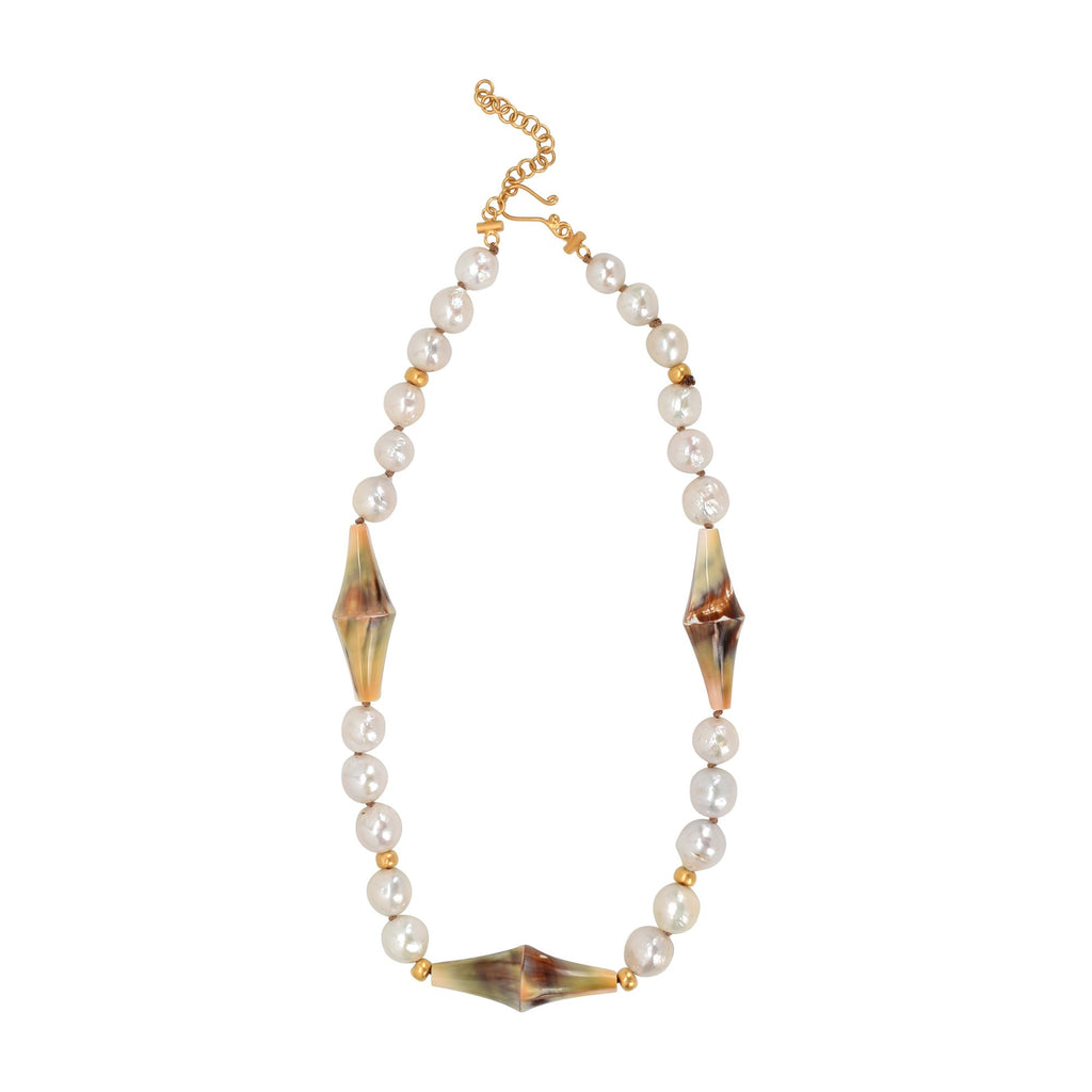 Shell & Pearl Strand Necklace