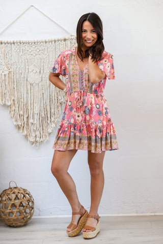 Capetown Mini Dress in Candy