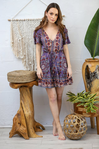 Capetown Mini Dress in Vintage Bloom