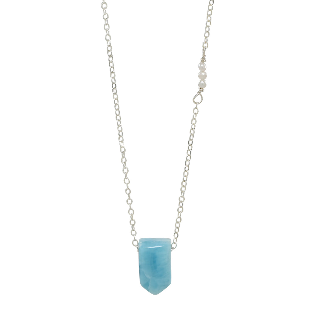 Floating Larimar Necklace