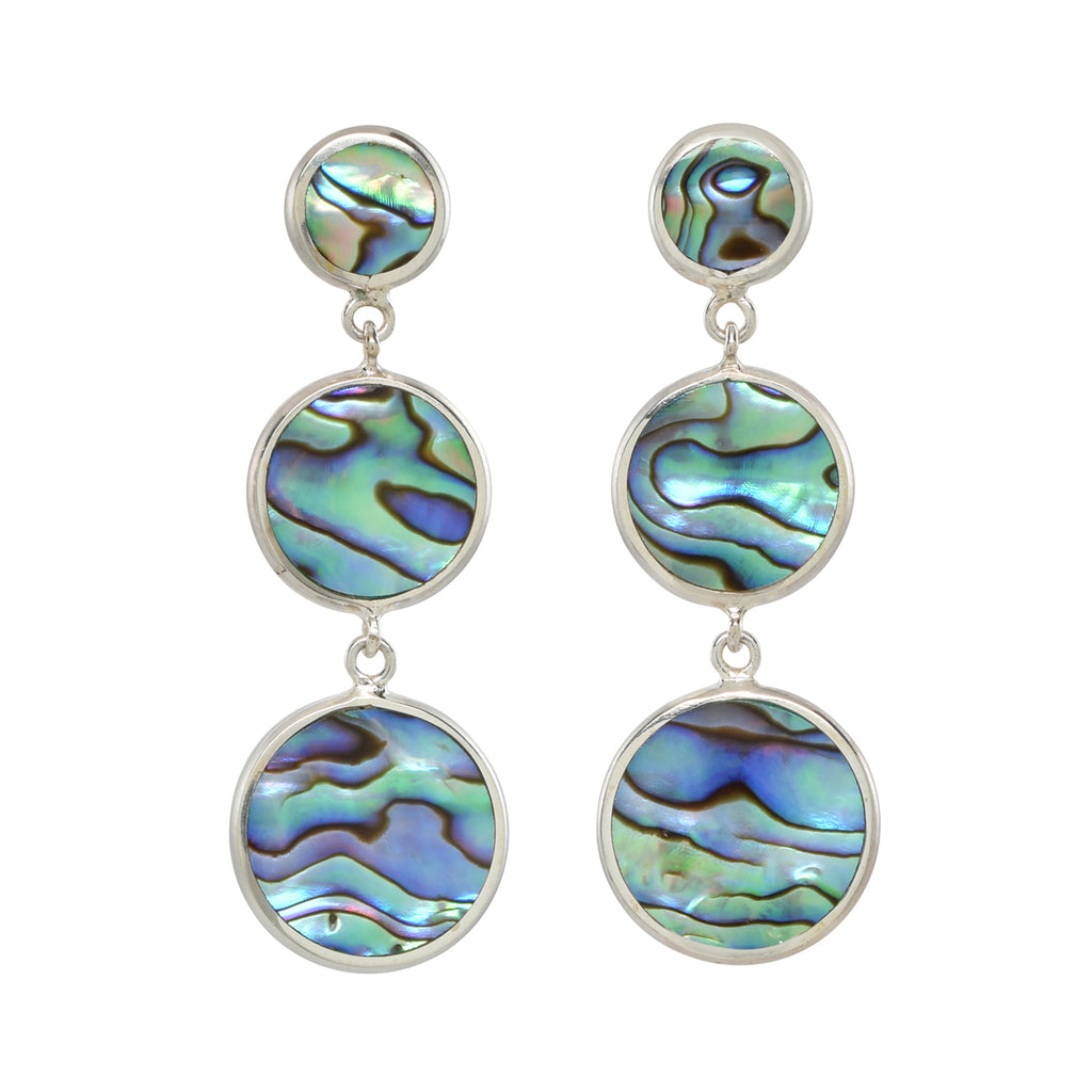 Silver Andros Earrings in Abalone