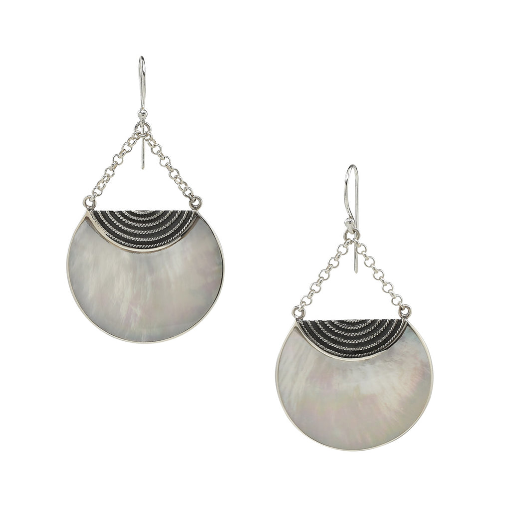 Luna Earrings in Mother of Pearl