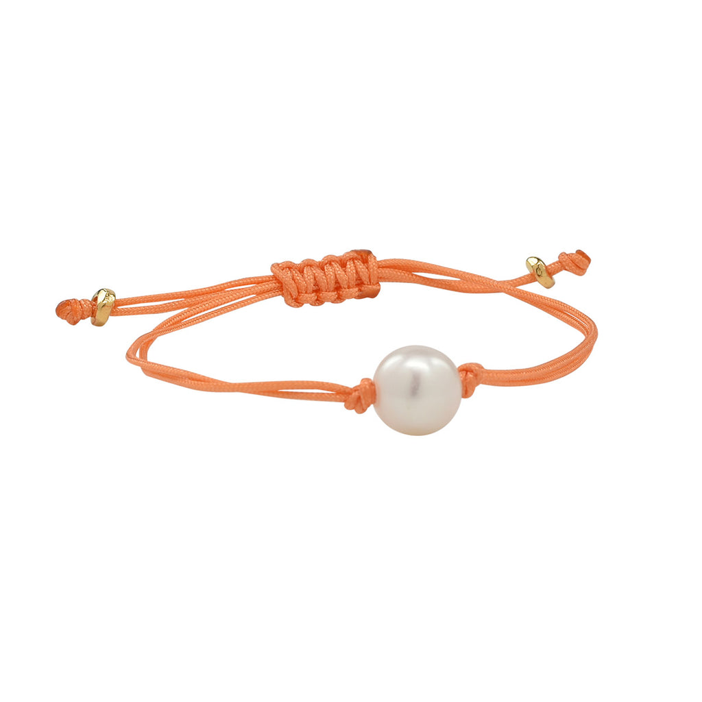 Freshwater Pearl Splash Bracelet in Melon