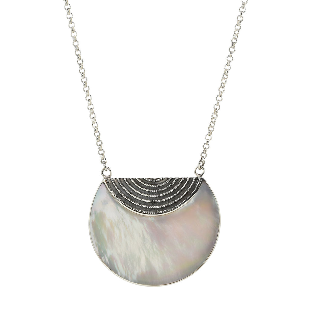 Luna Necklace in Mother of Pearl