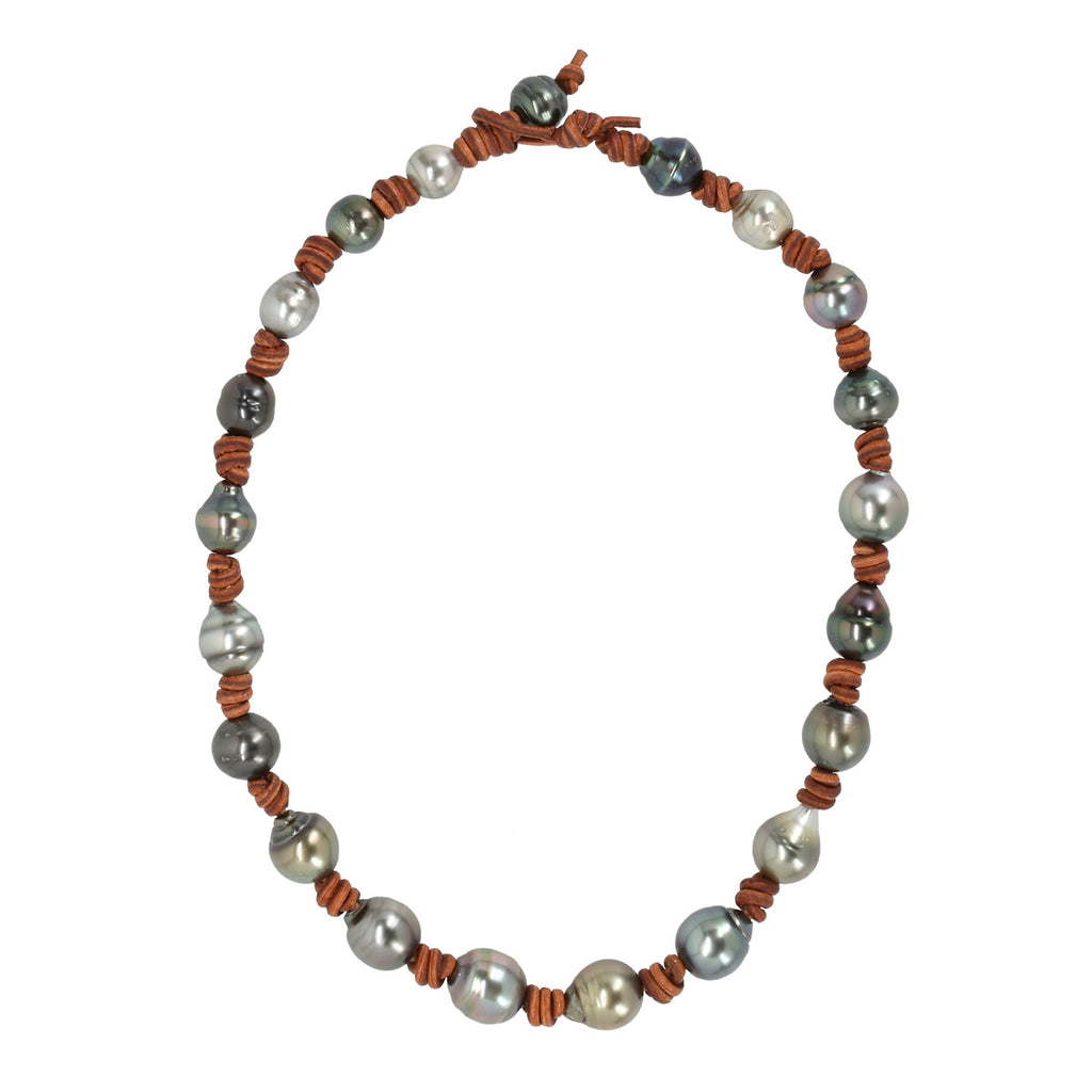 Tahitian Pearl Eternity Necklace