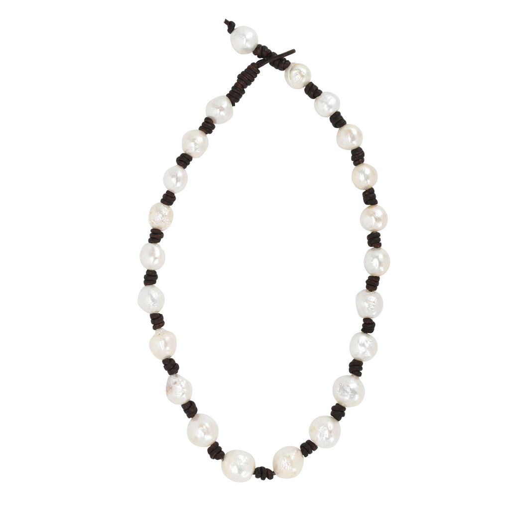 Eternity Necklace in Baroque Freshwater Pearls