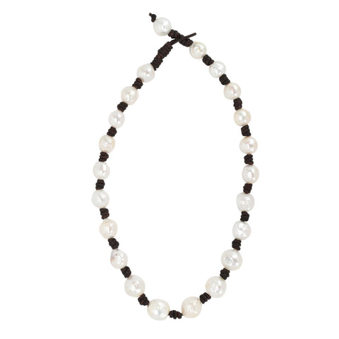 Baroque Pearl Eternity Necklace