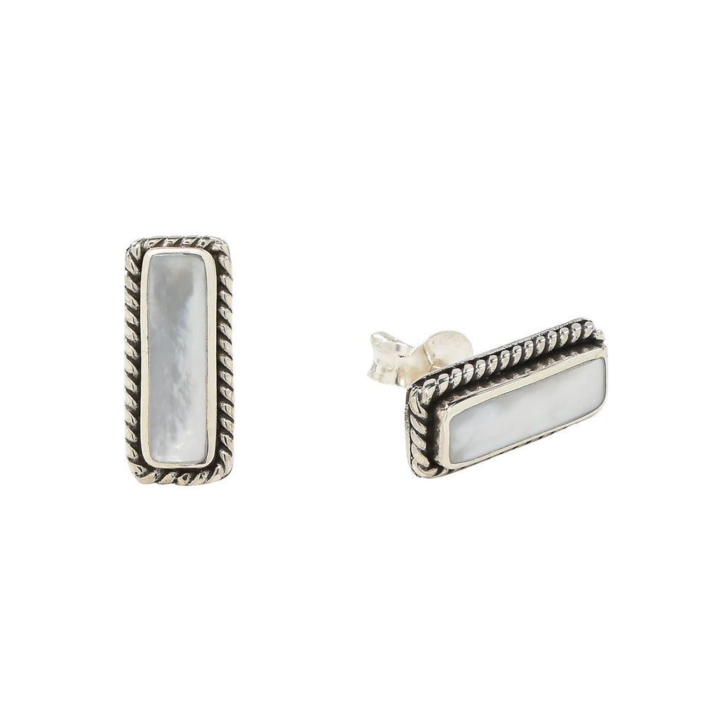 Mother of Pearl Bar Studs