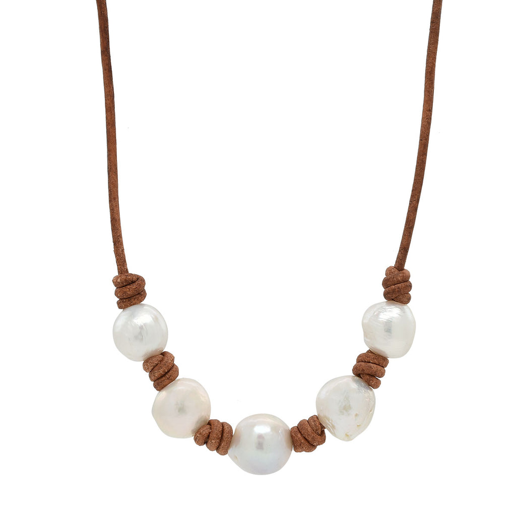 Classic Knotted Five Pearl Necklace