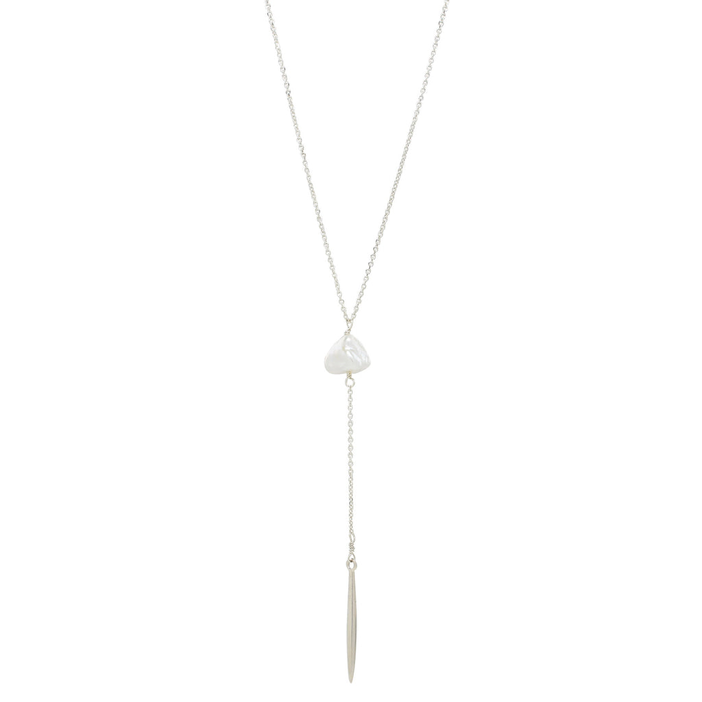 Keshi Pearl Spike Necklace