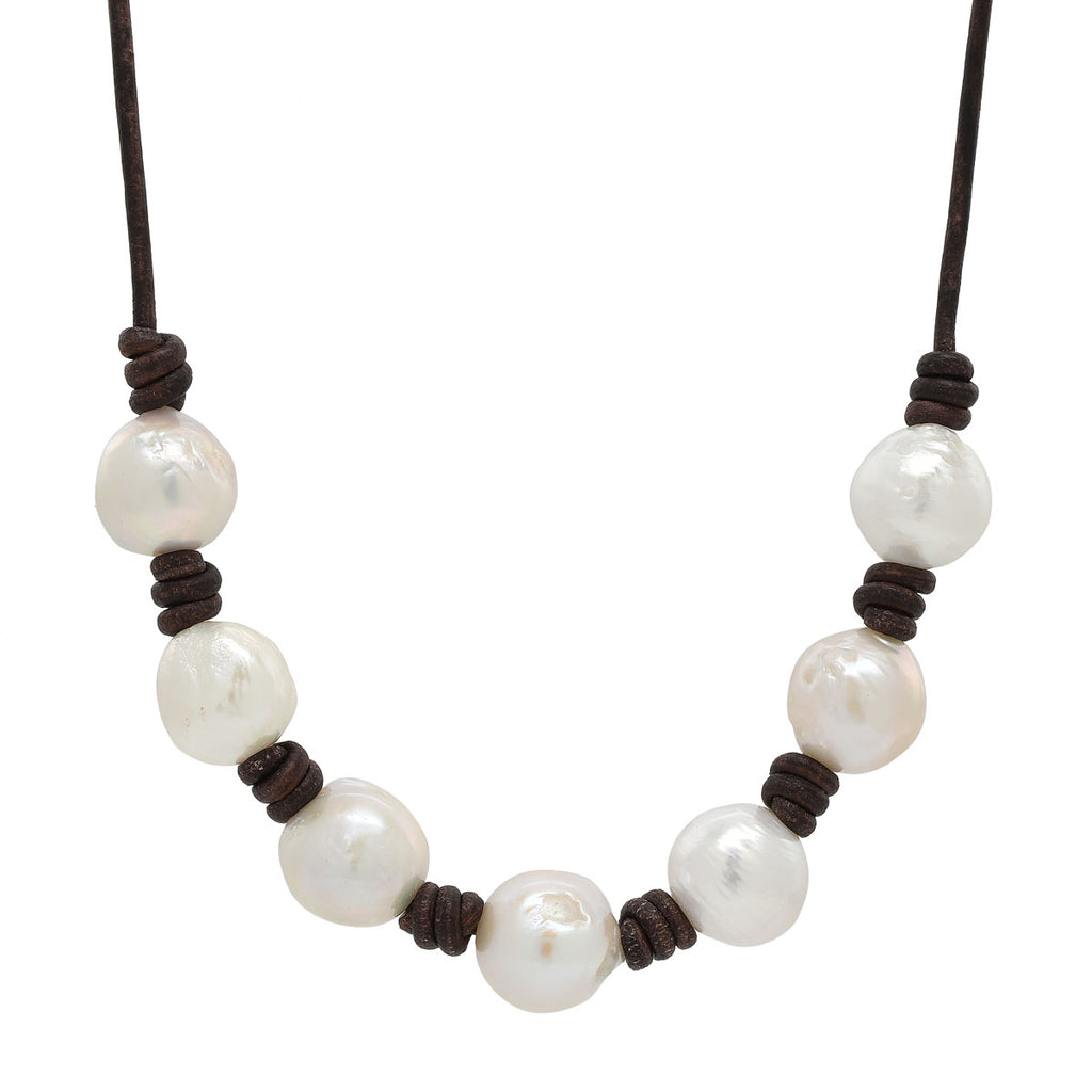 Classic Knotted seven Pearl Necklace