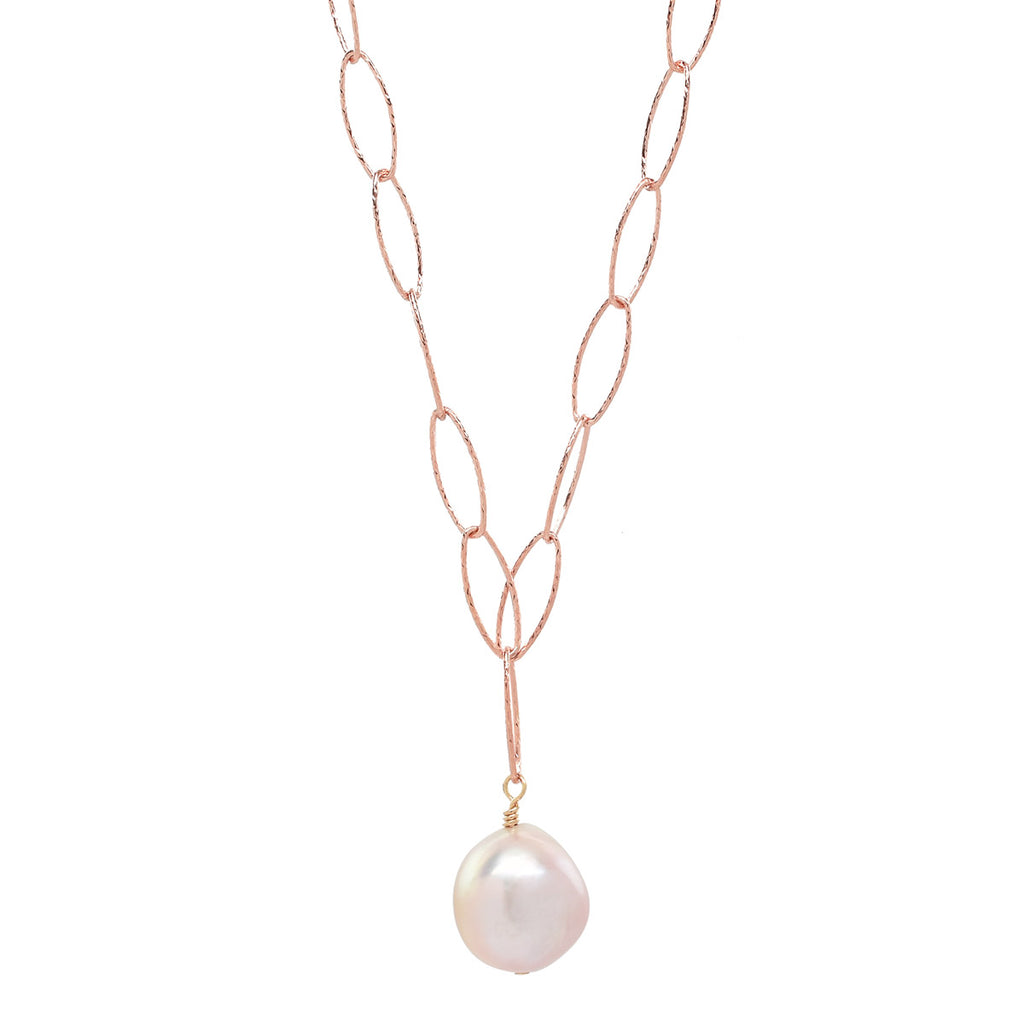 Palm Beach Necklace in Rose Gold