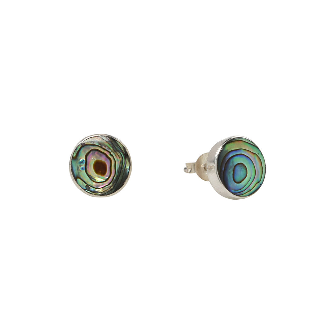 Sterling Silver Abalone Stud Earrings