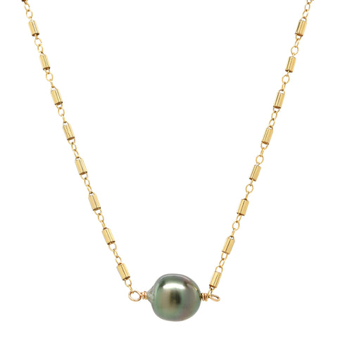 Cait Necklace in Tahitian Pearl