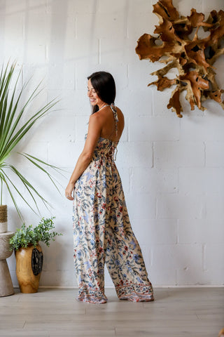 Hanalei Jumpsuit in Yellow Bird