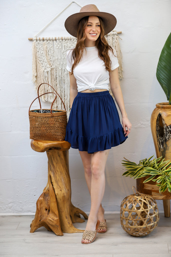 Hope Town Mini Skirt- Navy