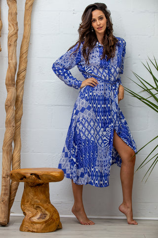 Jaine Dress in Indigo