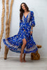 Indah Maxi Dress in Royal Hibiscus