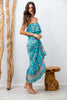 Horizon Flutter Dress in Blue Bird