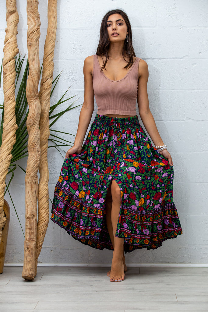 Drifter Skirt in La Rosa