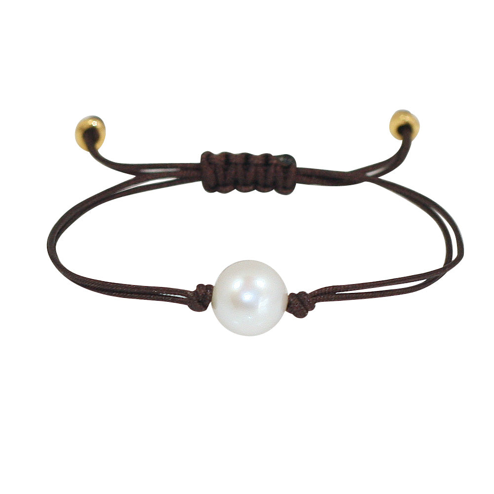 Freshwater Pearl Splash Bracelet in Dark Brown