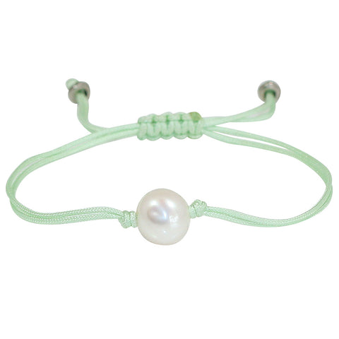 Freshwater Pearl Splash Bracelet in Mint