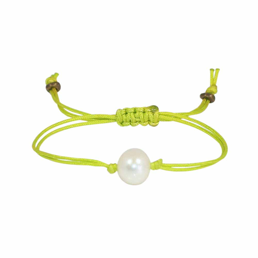 Freshwater Pearl Splash Bracelet in Apple Green