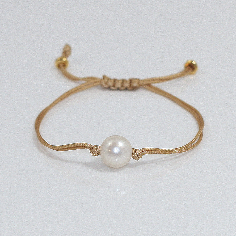 Freshwater Pearl Splash Bracelet in Gold -- Sea Lustre Jewelry