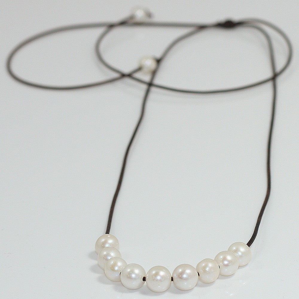 Freshwater Pearl Slide Necklace -- Sea Lustre Jewelry - 1