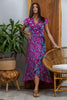 Havana Maxi Wrap Dress in Pink Tourmaline