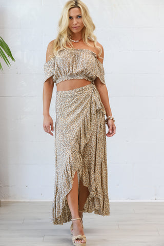 Honey Maxi Wrap Skirt in Animal