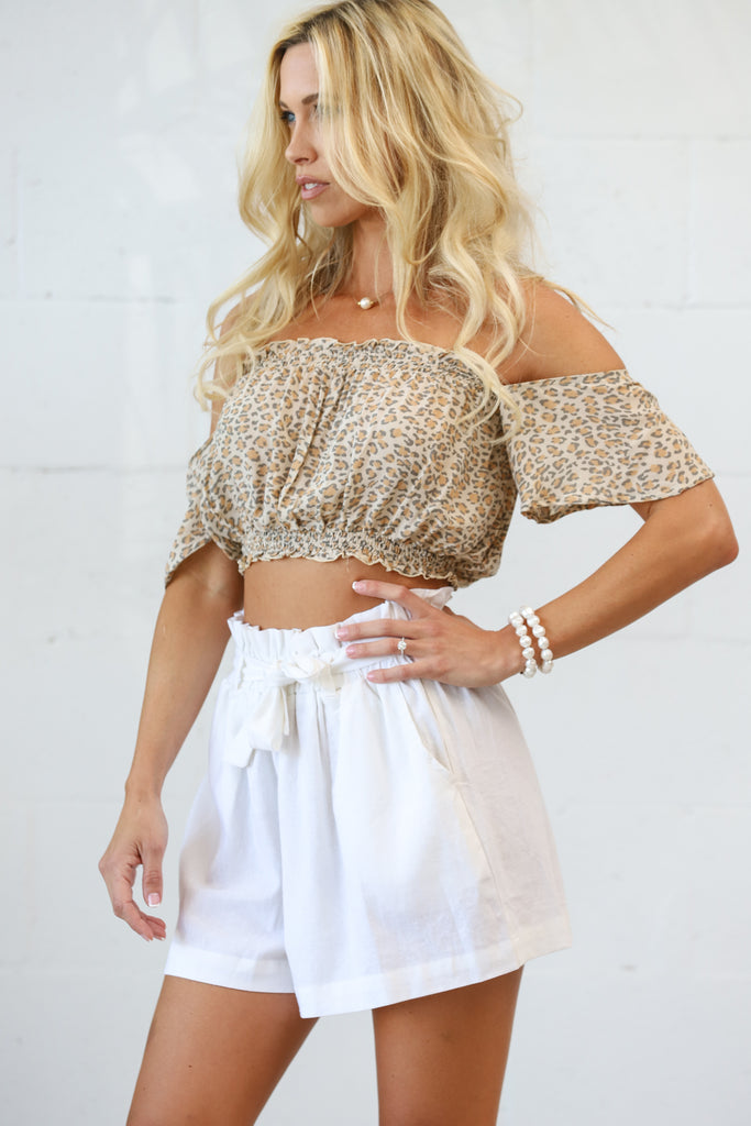 Darby Crop Top in Animal