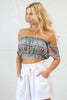 Darby Crop Top in Mint Rosa