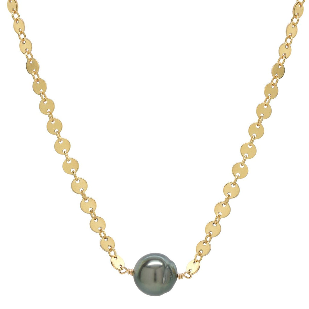 Mae Necklace in Tahitian Pearl