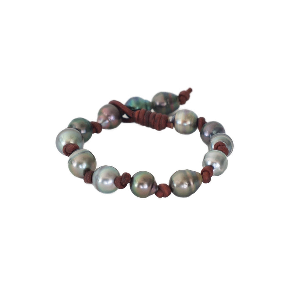 Tahitian Pearl Eternity Bracelet -- Sea Lustre Jewelry