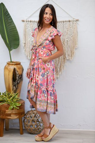 Sunny Days Tie Dress in Candy