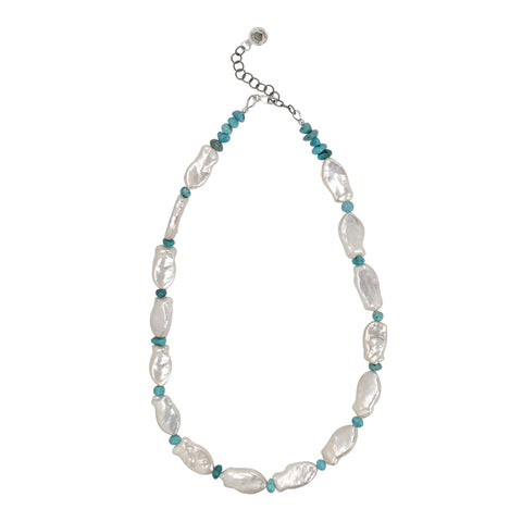 Fish & Turquoise Necklace