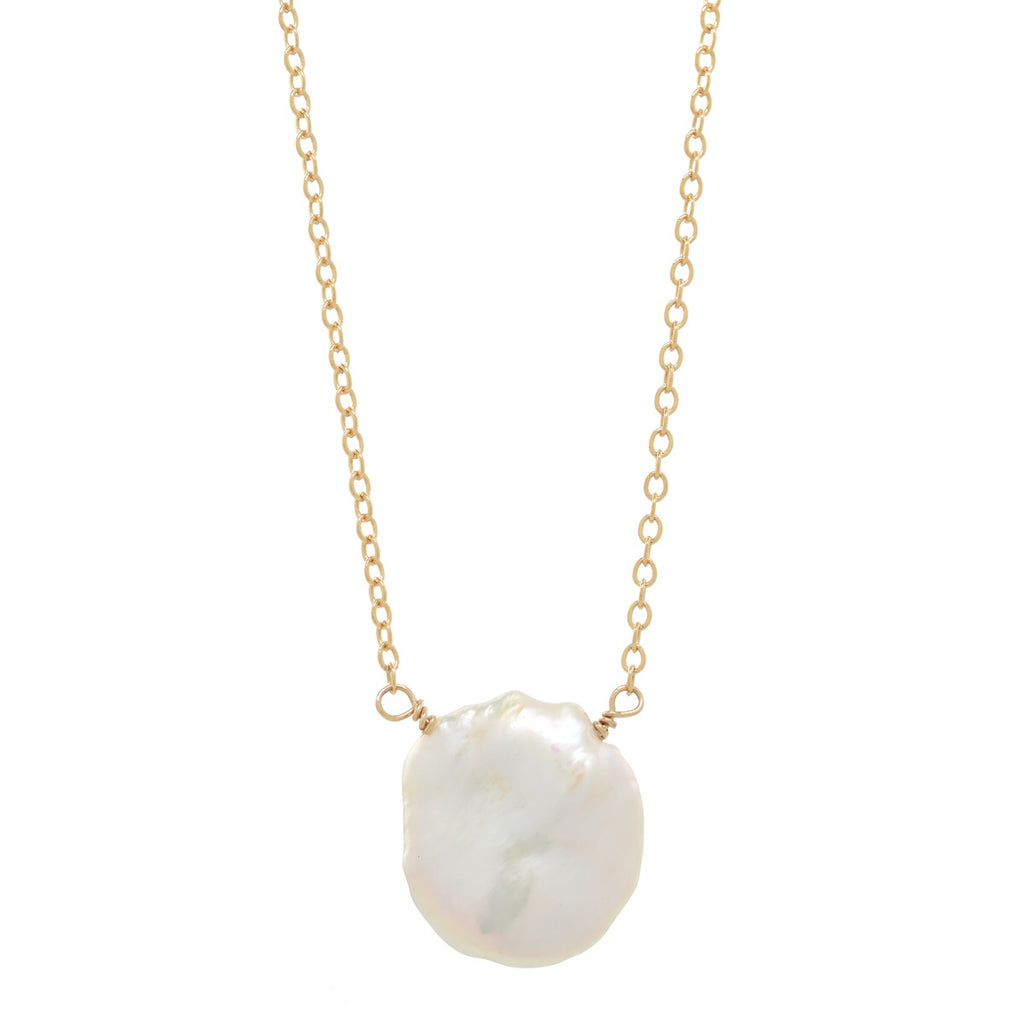 White Petal Pearl Necklace