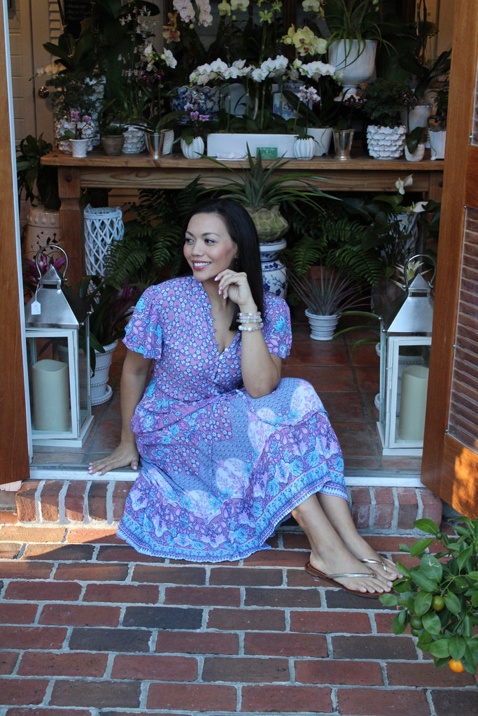 Madison Midi Dress in India Violet