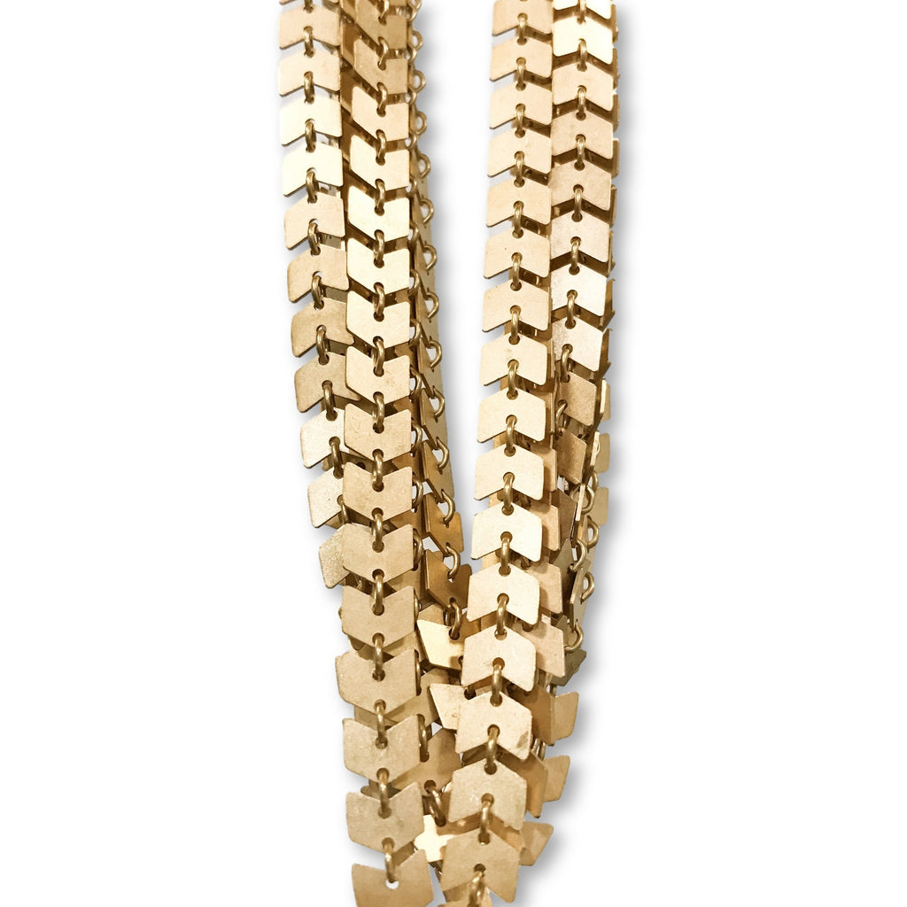 Gold Brickell Necklace