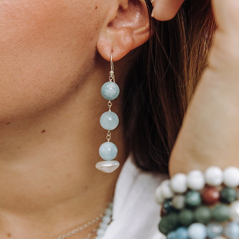 Jupiter Earrings in Aqua Marine
