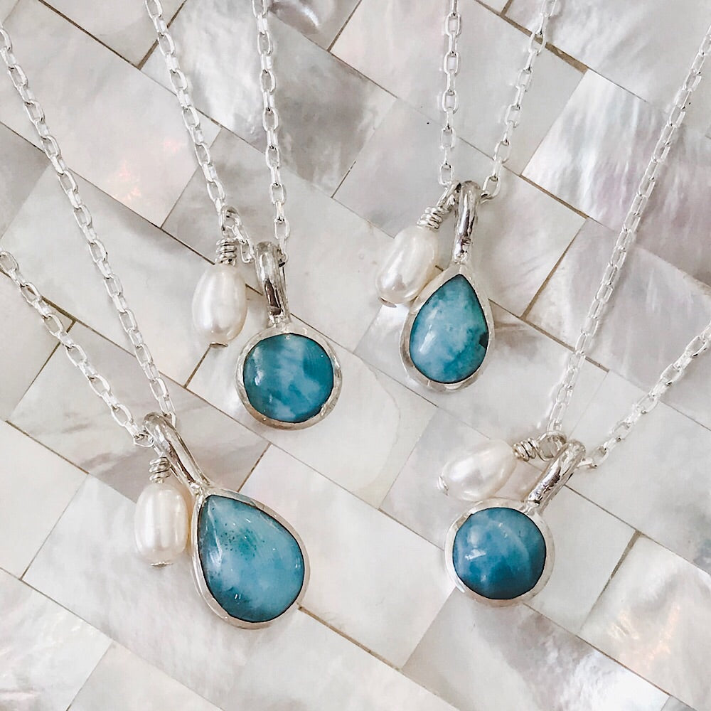 Dominican Larimar Necklace
